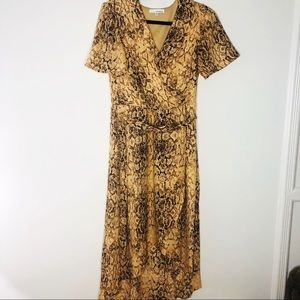 June and Hudson  Snake skin patterned dress
